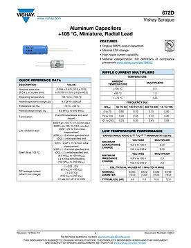 Vishay 672D Series Radial Aluminum Electrolytic Capacitors