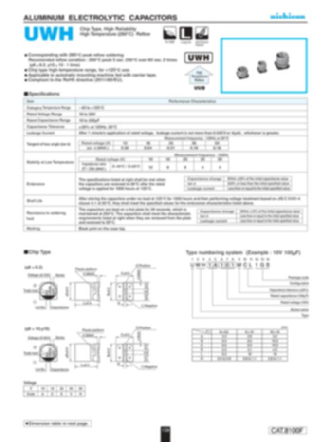 Nichicon UWH Series Aluminum Capacitors