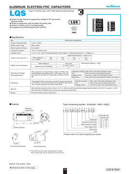 Nichicon LQS Series Aluminum Capacitors