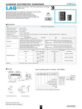Nichicon LAQ Series Aluminum Capacitors