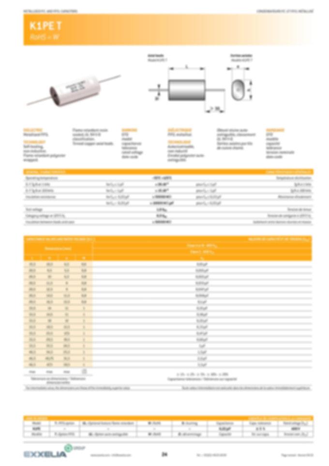 Exxelia K1PE T Series Film Capacitors