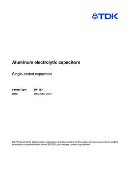 Epcos B41863 Series Aluminum Electrolytic Capacitors