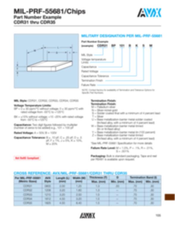 AVX CDR31 35 Series MLC Capacitors