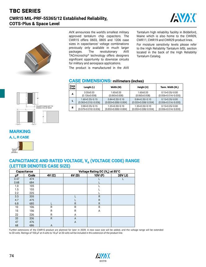 AVX TBC SRC9000 Series Tantalum Capacitors