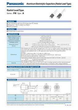 Panasonic FM Series Aluminum Capacitors
