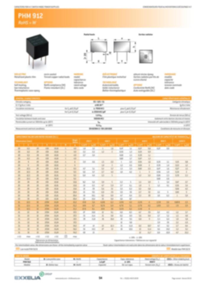Exxelia PHM 912 Series Film Capacitors