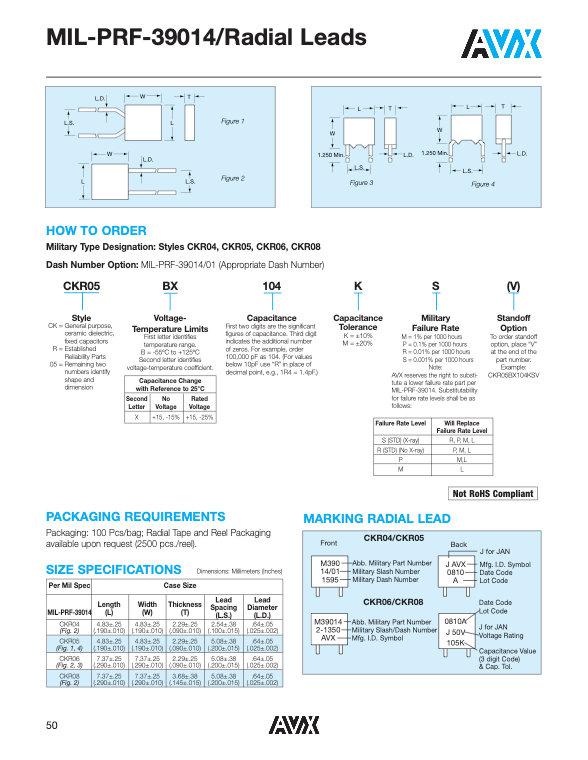 AVX CKR Series MLC Capacitors