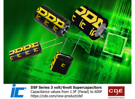 NEW SUPER CAPACITORS OPERATE AT HIGHER VOLTAGES