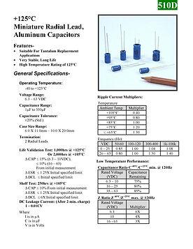 BMI 510D Series Aluminum Capacitors