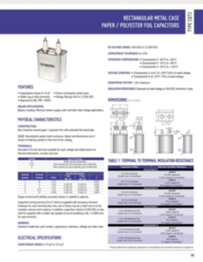 Exxelia CQ72 Series Film Capacitors