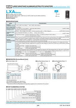 Nippon Chemi Con LXA Series Aluminum Electrolytic Capacitors