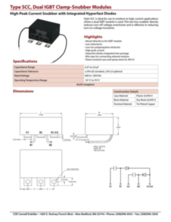 CDE Type SCC Film Capacitor