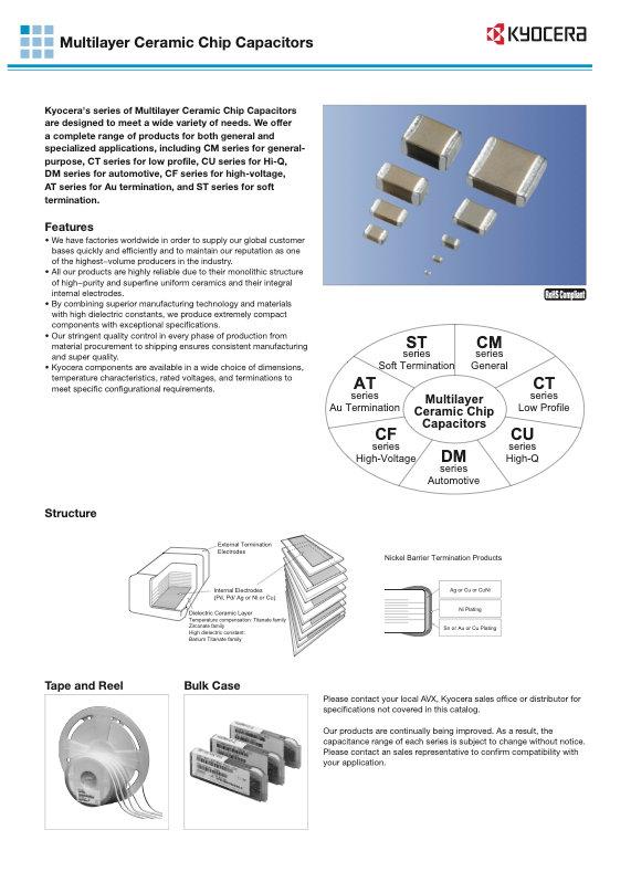 Kyocera CM Series MLC Capacitors