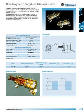 Voltronics Non Magnetic Sapphire Trimmers