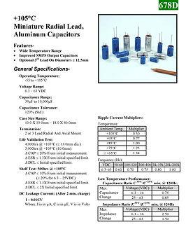 BMI 678D Series Aluminum Capacitors