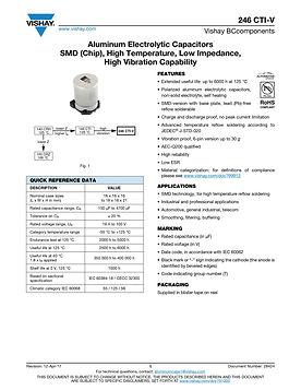 Vishay 246 CTI V Series Aluminum Electrolytic Capacitors