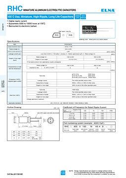Elna RHC Series Aluminum Electrolytic Capacitors