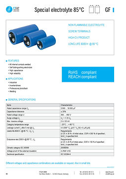 Fischer & Tausche GF Series Aluminum Capacitors