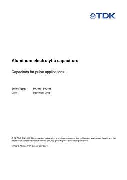 Epcos B43415 Series Aluminum Electrolytic Capacitors
