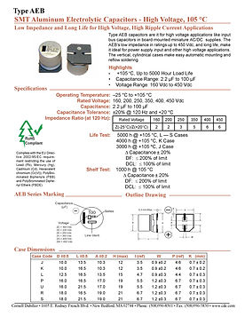 CDE Type AEB  Aluminum Capacitors