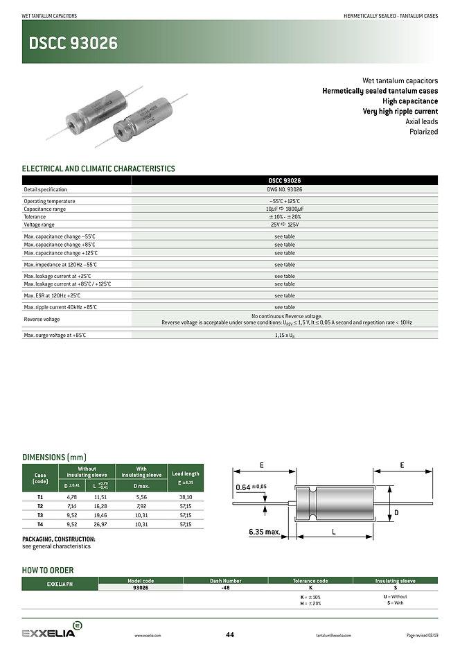 Exxelia DSCC 93026 Series