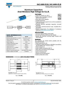 Vishay 04X AMH Series Axial Aluminum Electrolytic Capacitors