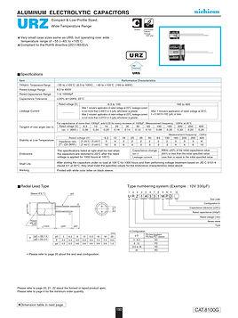 Nichicon URZ Series Aluminum Electrolytic Capacitors