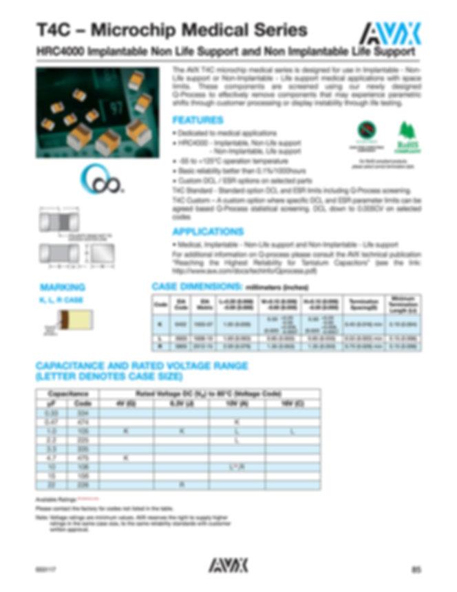 AVX T4C Series Tantalum Capacitors