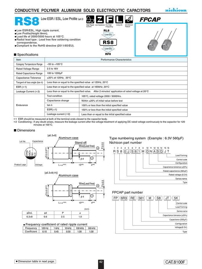 Nichicon RS8 Series Aluminum Polymer Capacitors
