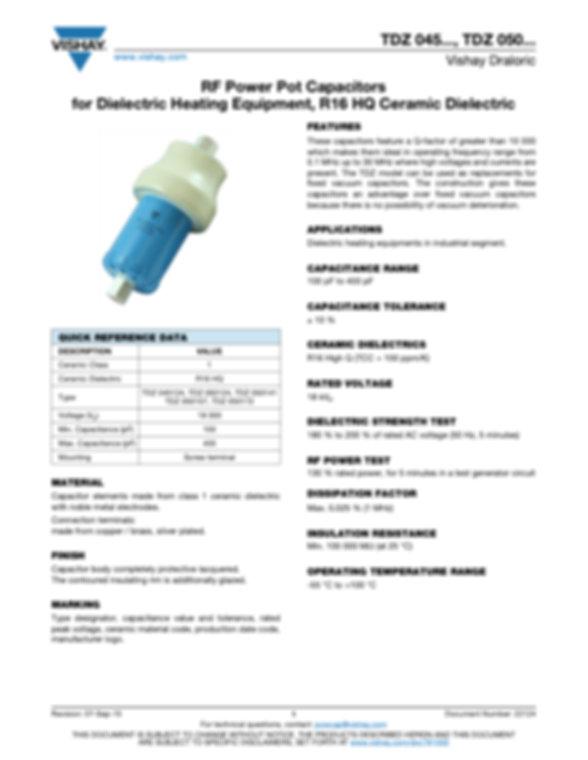 Vishay TDZ050170, TDFZ... Series RF Ceramic Capacitors