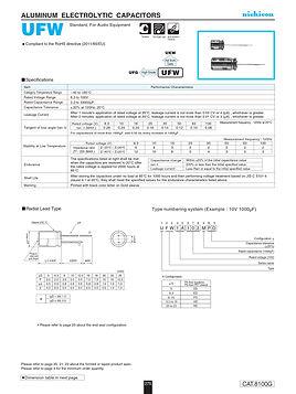 Nichicon UFW Series Aluminum Electrolytic Capacitors