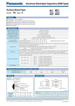 Panasonic TK Series Aluminum Capacitors
