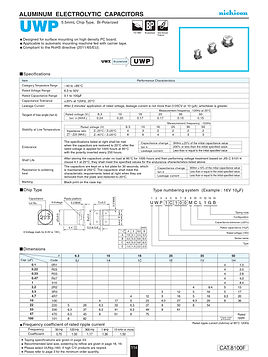 Nichicon UWP Series Aluminum Capacitors