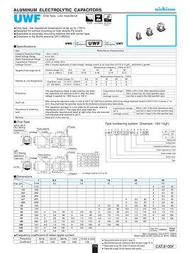 Nichicon UWF Series Aluminum Capacitors