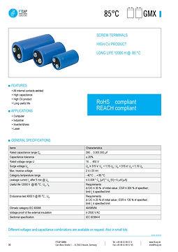 Fischer & Tausche GMX Series Aluminum Capacitors