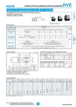Elna RVE Series Aluminum Electrolytic Capacitors