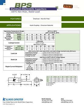 Illinois Capacitor BPS Series Radial Aluminum Electrolytic Capacitors