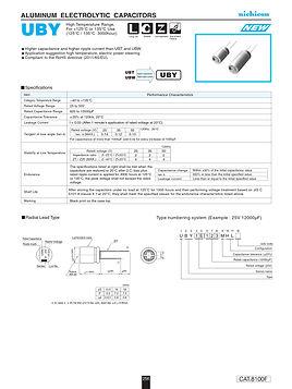 Nichicon UBY Series Aluminum Capacitors