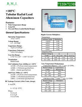 BMI 722D/723D Series Aluminum Capacitors