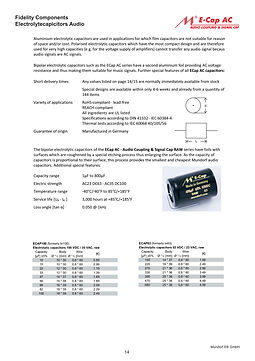 Mundorf Ecap RAW Series Aluminum Capacitors