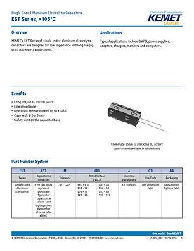 KEMET EST Series Aluminum Electrolytic Capacitors