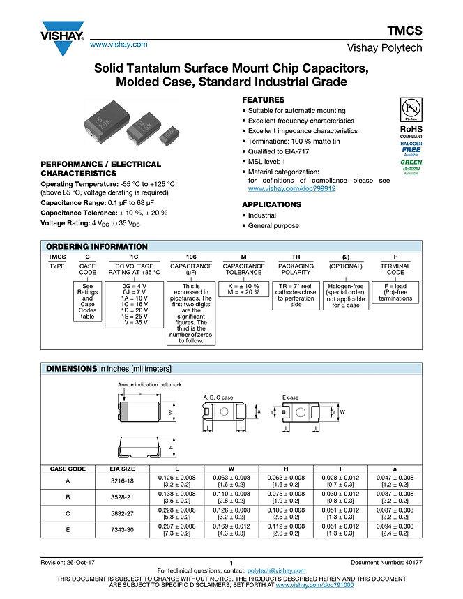 Vishay TMCS Series Tantalum Capacitors