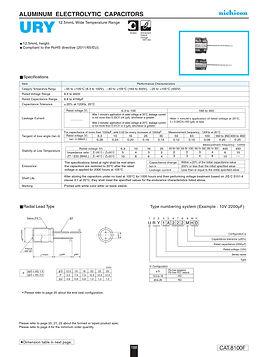 Nichicon URY Series Aluminum Capacitors
