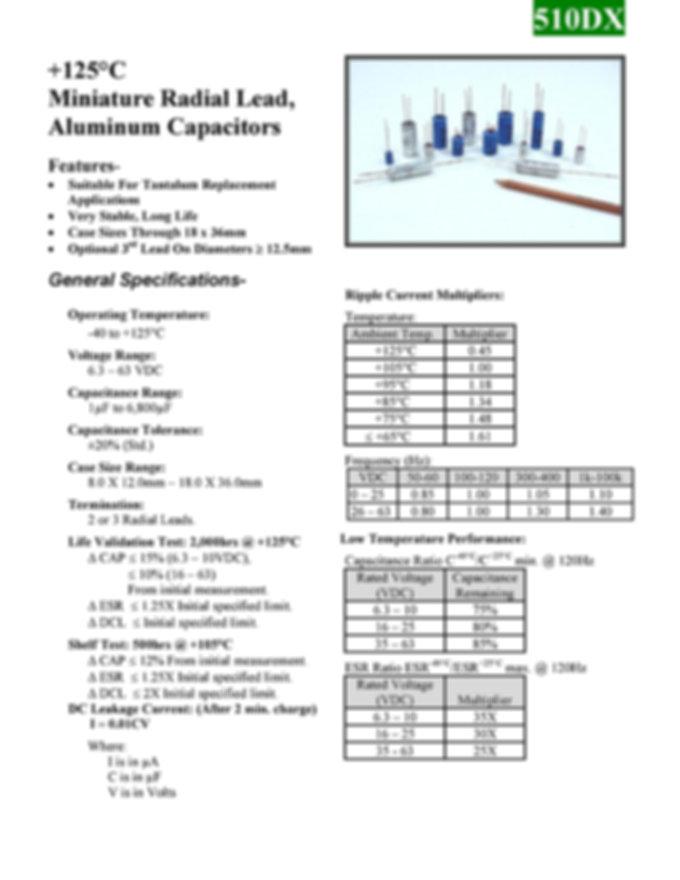 BMI 510DX Series Aluminum Capacitors