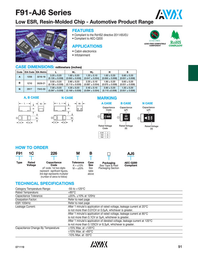 AVX F91 AJ6 Series