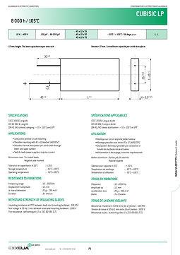 SIC SAFCO CUBISIC LP Radial Aluminum Electrolytic Capacitors