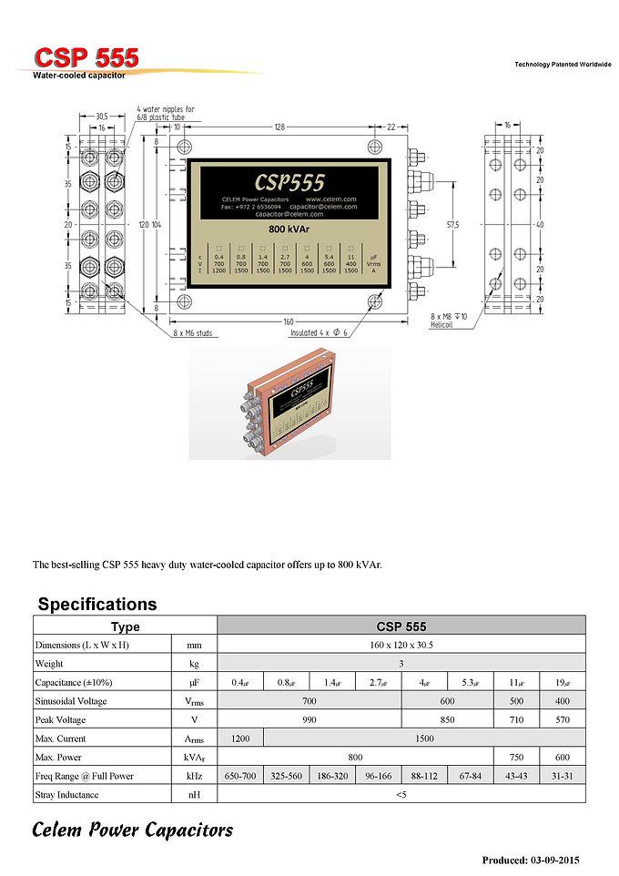 Celem CSP 555 Series Film Capacitors