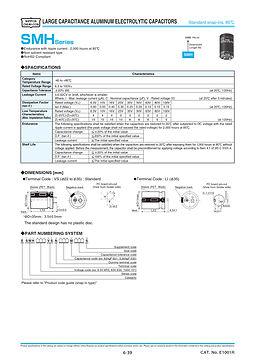 Nippon Chemi Con SMH Series Aluminum Electrolytic Capacitors