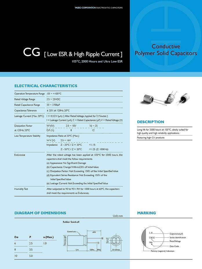 Yageo CG Series Aluminum Polymer Capacitors