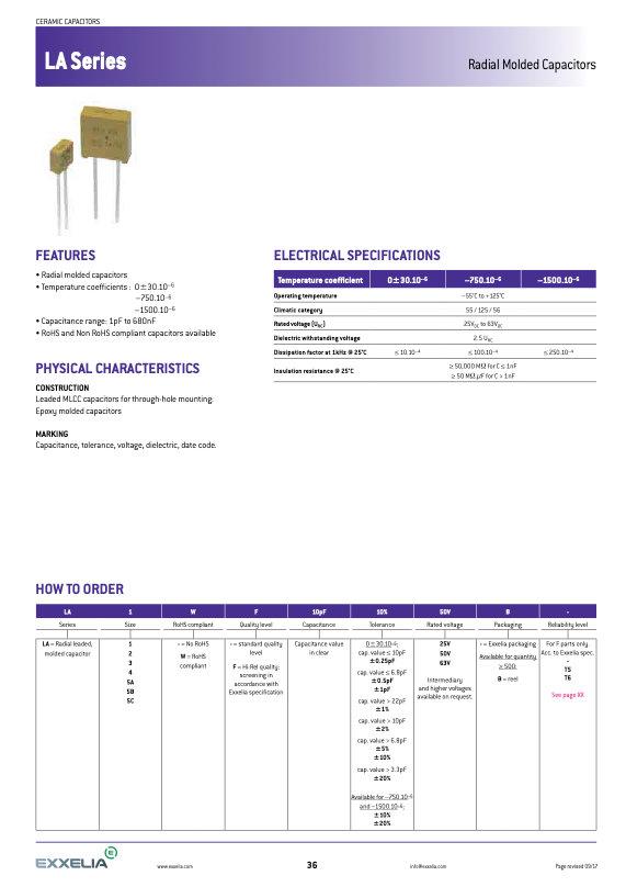 Exxelia LA Series MLC Capacitors